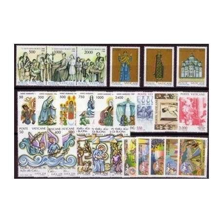 1988 VATICANO ANNATA COMPLETA G.I. Vaticano francobolli filatelia stamps