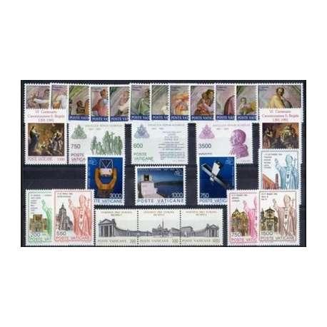 1991 VATICANO ANNATA COMPLETA G.I. Vaticano francobolli filatelia stamps