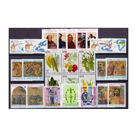 1992 VATICANO ANNATA COMPLETA G.I. Vaticano francobolli filatelia stamps