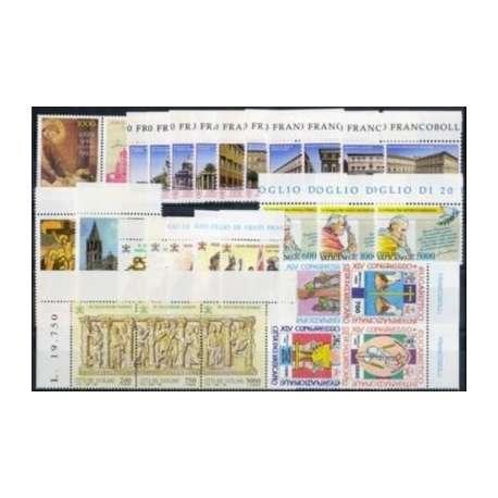 1993 VATICANO ANNATA COMPLETA G.I. Vaticano francobolli filatelia stamps