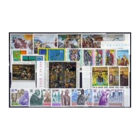 1994 VATICANO ANNATA COMPLETA G.I. Vaticano francobolli filatelia stamps