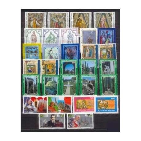 1995 VATICANO ANNATA COMPLETA G.I. Vaticano francobolli filatelia stamps