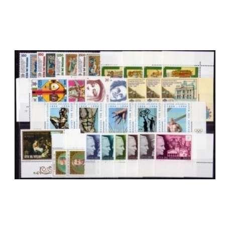 1996 VATICANO ANNATA COMPLETA G.I. Vaticano francobolli filatelia stamps