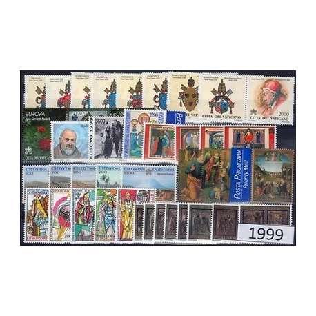 1999 VATICANO ANNATA COMPLETA G.I. Vaticano francobolli filatelia stamps