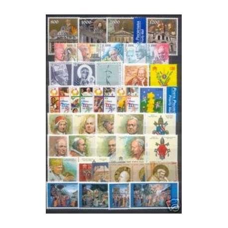 2000 VATICANO ANNATA COMPLETA G.I. Vaticano francobolli filatelia stamps