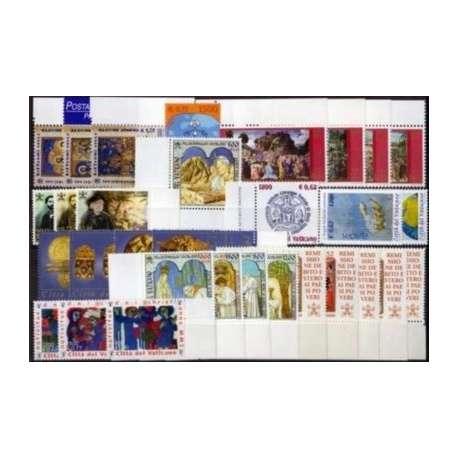 2001 VATICANO ANNATA COMPLETA G.I. Vaticano francobolli filatelia stamps