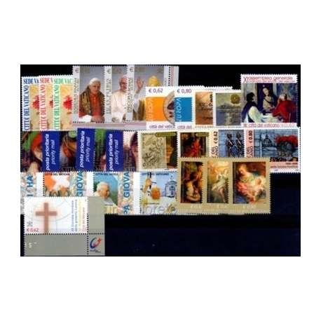 2005 VATICANO ANNATA COMPLETA G.I. Vaticano francobolli filatelia stamps