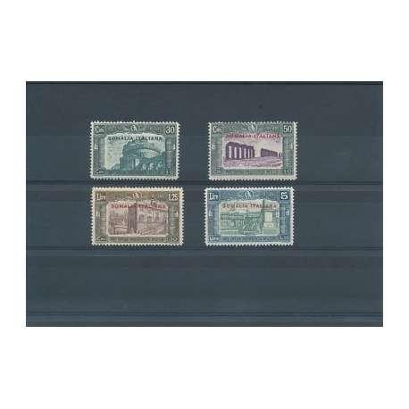 COLONIE:SOMALIA 1930 MILIZIA III G.I./SUL 50c.+10 E SUL 5L.+1,5 LIEVI T.L. (MLH)