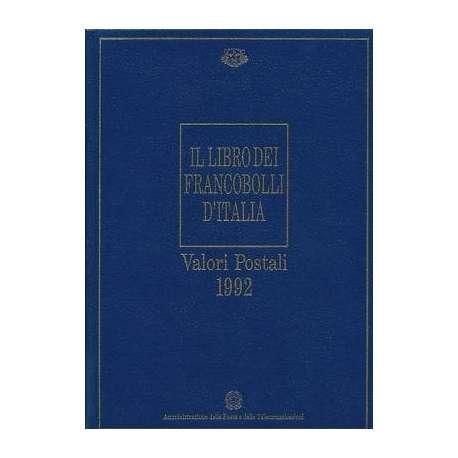 REPUBBLICA:LIBRO DEI FRANCOBOLLI COME NUOVO ANNO 1992 repubblica italiana francobolli filatelia stamps