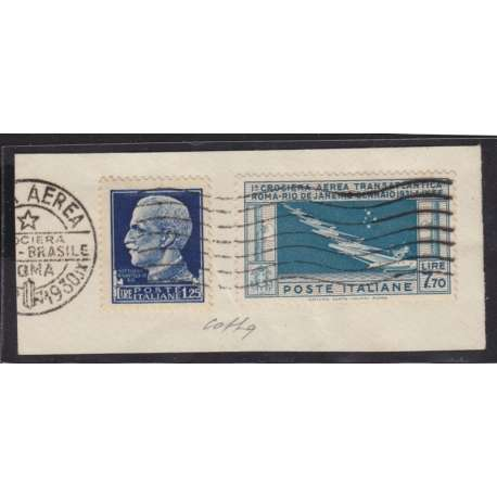7,70 SU AMPIO FRAMMENTO CERTIFICATO FOTOGRAFICO COLLA !!!! regno d' Italia francobolli filatelia stamps