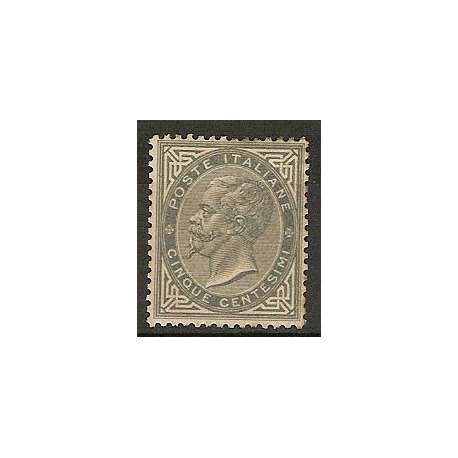 5 c. TORINO OTTIMA CENTRATURA CERTIFICATO GRANDI RARITA' LIEVISSIMA T.L. (G.O.) regno d' Italia francobolli filatelia stamps