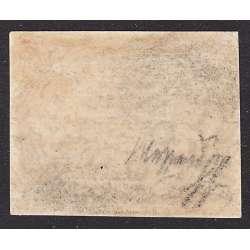 1852 PONTIFICIO 50 b. AZZURRO n.10 GRANDE FRESCHEZZA E RARITA' CERT. T.L. MLH* Stato Pontificio francobolli filatelia stamps