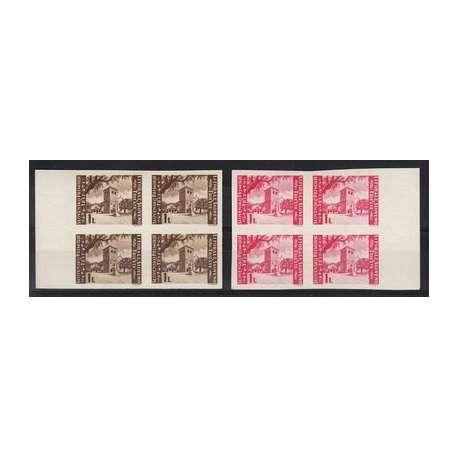 LITORALE SLOVENO SAN GIUSTO IN BELLISSIME E RARE QUARTINE BASSISSIMA TIRATURA ! Occupazioni francobolli filatelia stamps