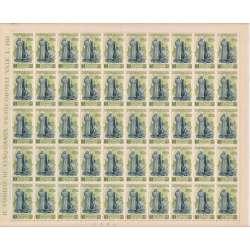 1948 CENT. S. CATERINA 4 V. S.132 X50 FOGLIO DENT. LEGGERMENTE APERTA G.I. MNH** repubblica italiana francobolli filatelia s...