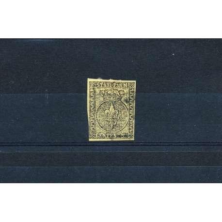 PARMA 1852 5c. GIALLO U Modena e Parma francobolli filatelia stamps