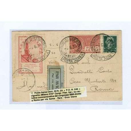 REGNO:INTERESSANTE BUSTA DI REGNO - Storia Postale francobolli filatelia stamps