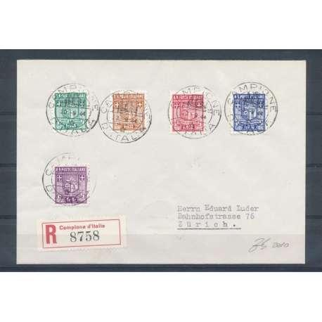 OCCUPAZIONI: CAMP. D'ITALIA LA II TIRAT SU BUSTA VIAGGIATA FOTO TERRACHINI-- Storia Postale francobolli filatelia stamps