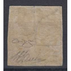 ANTICHI STATI NAPOLI 1/2 TORNESE CROCETTA N. 16 G.O. MH* RAY. ORO GRANDE RARITA' Napoli francobolli filatelia stamps