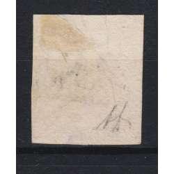 1858 NAPOLI 20 gr. ROSA BRUNASTRO I T. n.12 FIRMA A. DIENA US. Napoli francobolli filatelia stamps