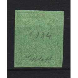 1852 MODENA 5 c. VERDE OLIVA n.8 CON PUNTO CERT. G. BOLAFFI G.I. MNH** Modena e Parma francobolli filatelia stamps