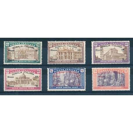 SOMALIA 1906-07 LEONI ED ELEFANTI SOPRASTAMPATI N.10-16 US