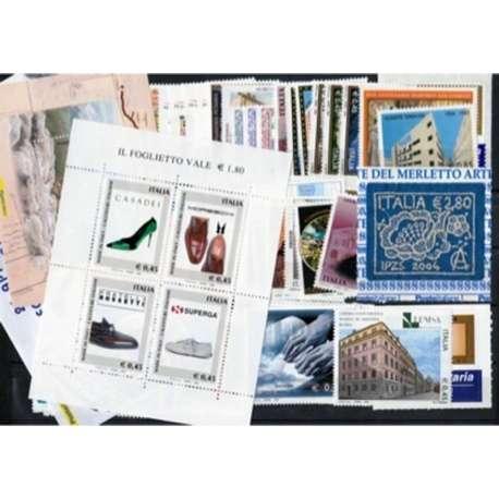 2004 REPUBBLICA ANNATA COMPLETA G.I. repubblica italiana francobolli filatelia stamps