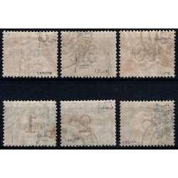 1922 LEVANTE COSTANTINOPOLI SEGNATASSE SOPR. 6 V. S.18 CERT. G.I. MNH**/G.O.MH* Colonie e Occupazioni francobolli filatelia ...