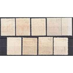 1926-30 LIBIA PITTORICA DENT. 11 8 V. S.12a BEN CENTRATI CERTIFICATO G.I. MNH** Colonie e Occupazioni francobolli filatelia ...