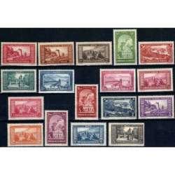 MONACO 1933 VEDUTE DIVERSE G.I MNH** Monaco francobolli filatelia stamps