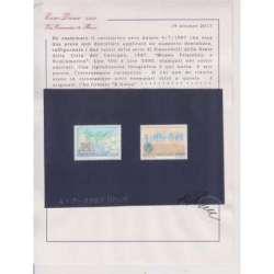 VATICANO 1987 PROVE NON DENTELLATE MUSEO FILATELICO E NUMISMATICO 400 L E 3500 L Vaticano francobolli filatelia stamps