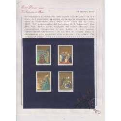 VATICANO 1987 PROVE NON DENTELLATE XVI ANNIVERSARIO DEL BATTESIMO DI S. AGOSTINO Vaticano francobolli filatelia stamps