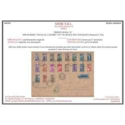 """TRIESTE ZONA """"A"""" 1950 LAVORO 19 VALORI SU BUSTA PRIMO GIORNO VIAGGIATA CERT. Trieste Zona """"A"""" francobolli filatelia stamps"""
