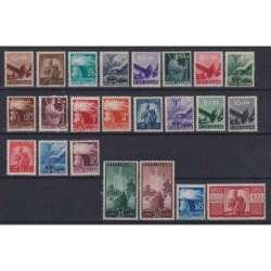 REPUBBLICA 1945-48 DEMOCRATICA 23 VALORI G.I MNH** CERT. repubblica italiana francobolli filatelia stamps