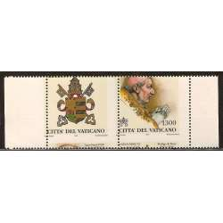 PAPI 1998 DENTELLATURA FORTEMENTE SPOSTATA SOLO 5 ESEMPLARI NOTI!!!! G.I. Vaticano francobolli filatelia stamps