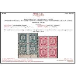 CASTIGLIONE D' INTELVI 1945 QUARTINE 14e-15d X2 G.I MNH** Occupazioni francobolli filatelia stamps