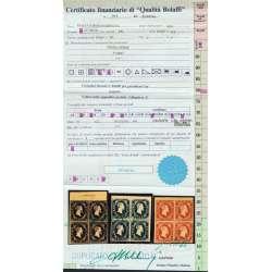 1851 SARDEGNA N. 1-2-3 SPLENDIDE QUARTINE BORDI E ANGOLI DI FOGLIO Sardegna francobolli filatelia stamps