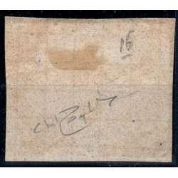 1867 STATO PONTIFICIO 5 c. AZZURRO VERDASTRO n.16 8 FILETTI CERT. SU FRAMMENTO Stato Pontificio francobolli filatelia stamps
